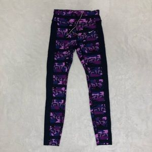 Purple camo Nike tights